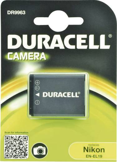 Kamera akku Duracell Megfelelő eredeti akku EN-EL19 3.7 V 700 mAh
