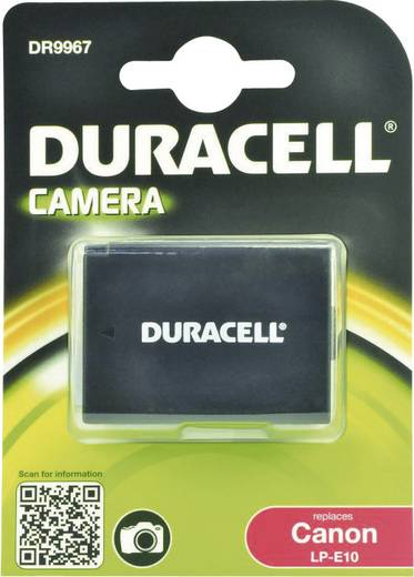 Kamera akku Duracell Megfelelő eredeti akku LP-E10 7.4 V 1020 mAh