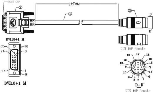 DVI csatlakozókábel [1x DVI dugó 18+1pólusú 1x DVI dugó 18+1pólusú] 15 m fekete