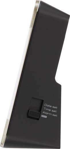 Rádiójel vezérelt ébresztőóra (H x Sz) 80 x 80 mm, fekete, renkforce