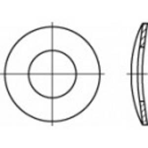 Rugós alátét, belső Ø: 4.3 mm DIN 137 100 db, Toolcraft TOOLCRAFT
