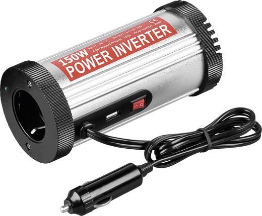 Szivargyújtós inverter, 12-13,8 V/DC, 150 W, pohártartóba rakhatóba, Goobay 67921