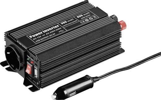 Inverter 300 W 12 V/DC 12 - 13.8 V/DC, szivargyújtós csatlakozó dugó, Goobay 67922