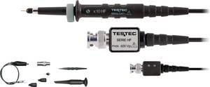 Oszcilloszkóp mérőfej, mérőzsinór készlet 300 MHz-ig 10:1 osztású CAT I 600V-ig szigetelt Testec TT-212 HF Testec