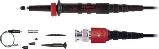 Oszcilloszkóp mérőfej, mérőzsinór készlet 300 MHz-ig 100:1 osztású CAT 1500V-ig szigetelt Testec HV 150