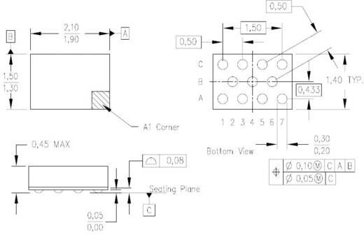 Logikai IC SN74AVC4T234ZSUR UCSP-11 Texas Instruments