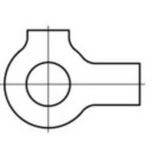 Alátétek 2 füllel Belső Ø: 6.4 mm DIN 463 Acél 100 db TOOLCRAFT 107461