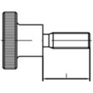 TOOLCRAFT 107559 Recésfejű csavarok M8 12 mm DIN 464 Acél Galvanikusan cinkezett 25 db TOOLCRAFT