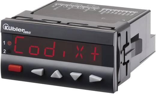 Programozható, beállítható számláló modul beépítési méret 92 x 45 mm, 90 - 260V/AC RS232 Kübler Codix 560 AC