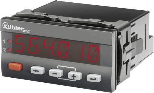 Beépíthető LCD hőmérő modul, panelműszer, hőfokkapcsoló modul -20-tól +65 °C-ig Kübler CODIX 564