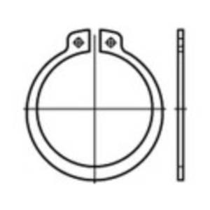 Biztonsági alátét, belső Ø: 10.2 mm DIN 471 200 db TOOLCRAFT 107640 TOOLCRAFT