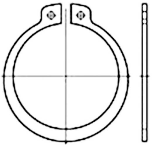 Biztonsági alátét, belső Ø: 16.5 mm DIN 471 200 db TOOLCRAFT 107650