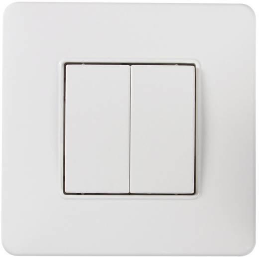 Vezeték nélküli fali nyomógomb, falra szerelhető, hatótáv max. 100 m, fehér, WR Rademacher Duofern 32160211