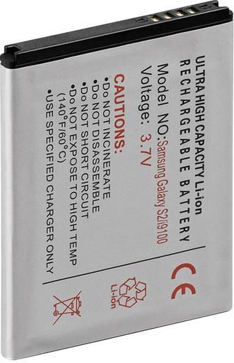 Lithium ion mobiltelefon akkumulátor Samsung Galaxy S2 i9100 telefonokhoz 1400 mAh Goobay 43027
