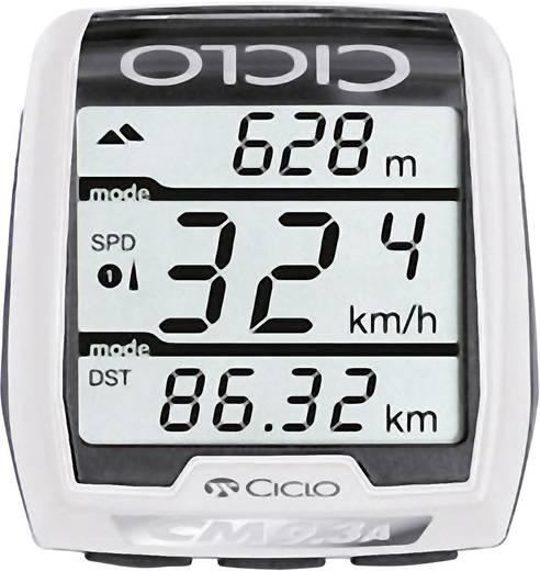 Vezeték nélküli kerékpár computer pulzus-, hő- és légnyomás mérővel, kódolt átvitel, CicloSport CM 9.3A Plus