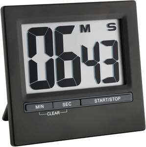 Digitális visszaszámláló óra, időzítő, nagy kijelzővel, 16x84x77 mm, fekete, TFA 38.2013.01 (38.2013.01) TFA