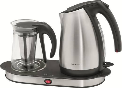 Tea és kávéfőző készlet, 6 adagos, rozsdamentes acél/üveg, Clatronic TKS 3504