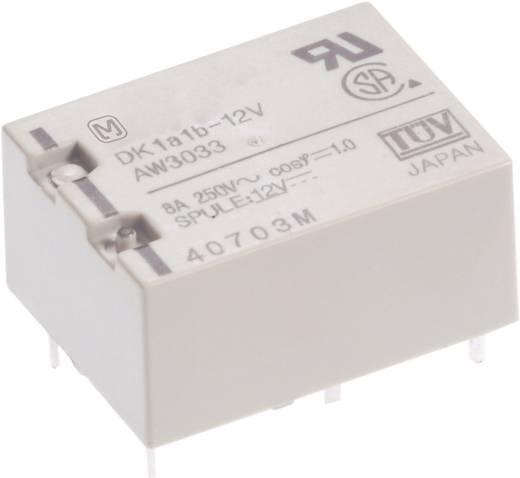 Teljesítményrelé, DK Panasonic DK1A-12V-F 12 V/DC 1 záró 10 A 250 V/AC, 125 V/DC