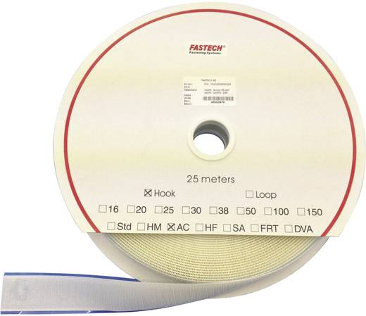 Tépőzár Felragasztáshoz Horgos fél (H x Sz) 25000 mm x 100 mm Fehér Fastech T0110000000225 25 m