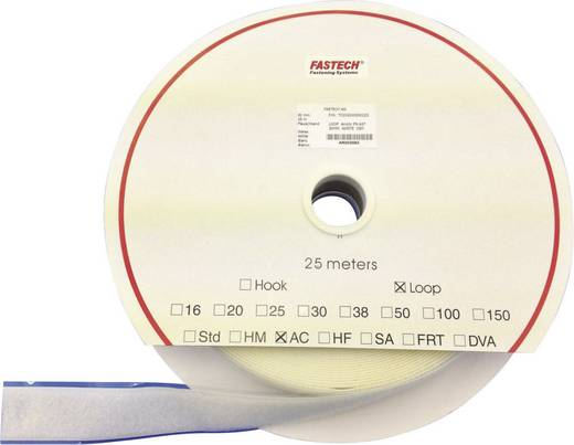 Tépőzár felragasztáshoz bolyhos fél (H x Sz) 25000 mm x 50 mm fehér Fastech T0205000000225 25 m