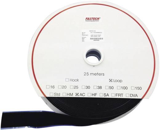 Tépőzár Felragasztáshoz Bolyhos fél (H x Sz) 25000 mm x 100 mm Fekete Fastech T0210099990225 25 m