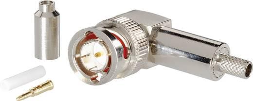 Krimpelhető BNC dugó, könyök kivitel, nikkelezett, RG 58 C/U