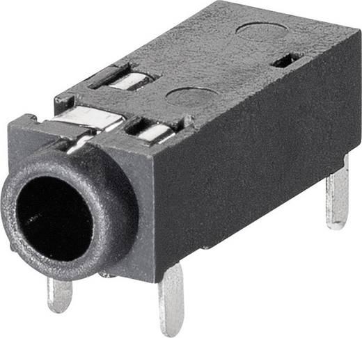Jack csatlakozó, 3,5 mm Alj, beépíthető, vízszintes pólusszám: 4 Sztereo BKL Electronic 1109202 1 db