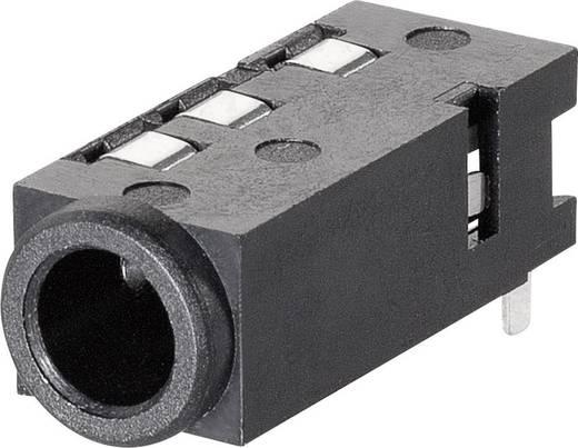 Jack csatlakozó, 3,5 mm Alj, beépíthető, vízszintes pólusszám: 4 Sztereo BKL Electronic 1109300 1 db