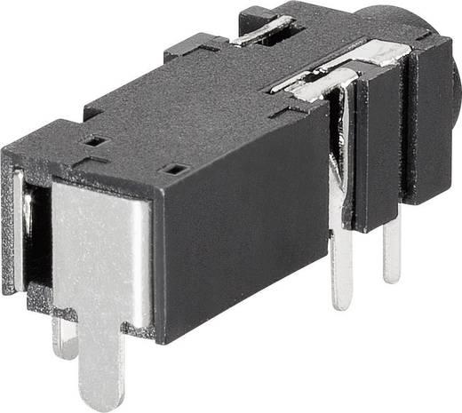 Jack csatlakozó, 2,5 mm Alj, beépíthető, vízszintes Sztereo BKL Electronic 1109302 1 db