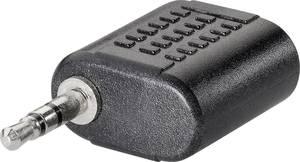 Jack Audio Adapter [1x Jackdugó 2.5 mm - 1x Jackalj 2.5 mm] fekete BKL Electronic BKL Electronic