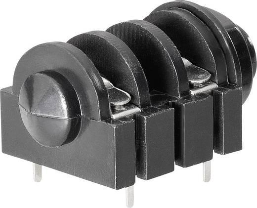 Jack csatlakozó, 6,35 mm Alj, beépíthető, vízszintes pólusszám: 2 Mono BKL Electronic 1109022 1 db