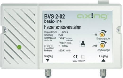 Antenna jelerősítő, szélessávú 47 - 862 MHz-ig, állítható erősítésű +25dB Axing BVS 2-02