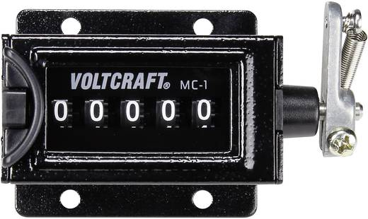Mechanikus számláló modul, karos összegző számláló 58 x 47 mm, VOLTCRAFT MC-1