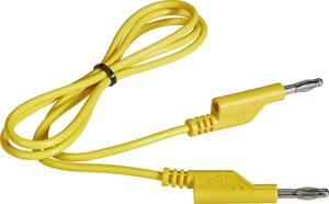 Mérőkábel, mérőzsinór 2db 4mm-es toldható banándugóval 1 mm², PVC, 1m sárga Voltcraft 108612 VOLTCRAFT