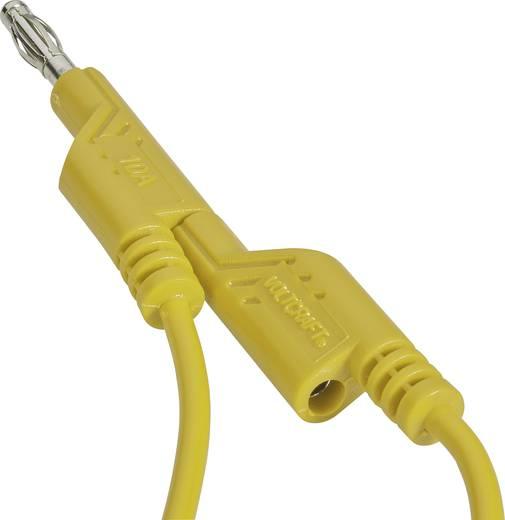 Mérőkábel, mérőzsinór 2db 4mm-es toldható banándugóval 1 mm², PVC, 1m sárga Voltcraft 108612