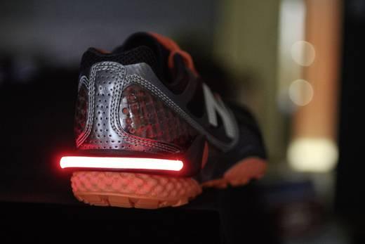 Cipőre szerelhető figyelemfelkeltő LED-es villogó, piros