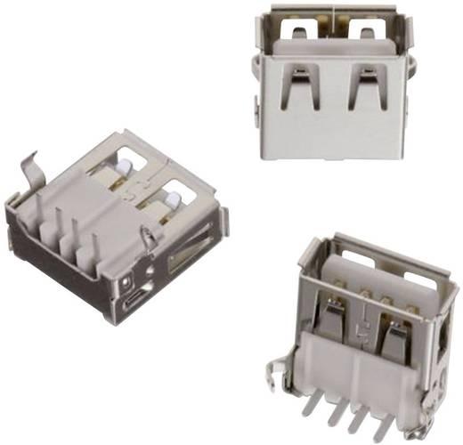 USB A típus, fekvő, WR-COM Alj, beépíthető, vízszintes Würth Elektronik Tartalom: 1 db