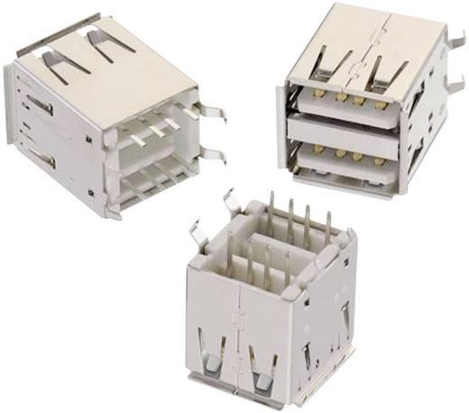 USB A típus, álló, 2 részes, WR-COM Alj, beépíthető, függőleges Würth Elektronik Tartalom: 1 db