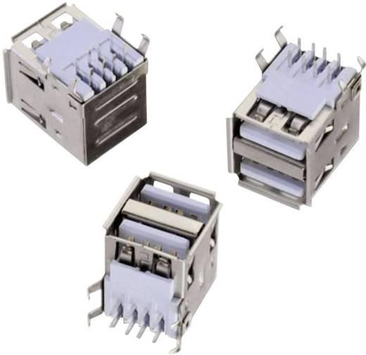 USB A típus, fekvő, 2 részes, WR-COM Alj, beépíthető, vízszintes Würth Elektronik 61400826021
