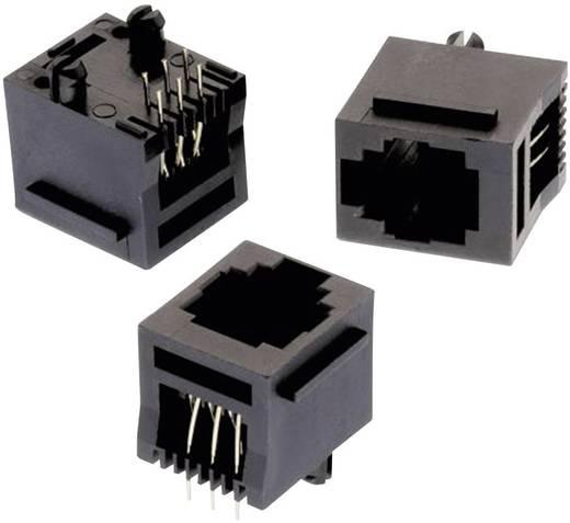 Moduláris jack, álló, árnyékolatlan, 6P6C, stéggel, WR-MJ, Pólusszám: 6P6C fekete Würth Elektronik 615006138521