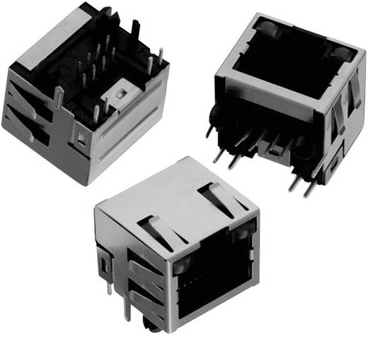 Moduláris jack Tab Up, fekvő, árnyékolt, LED-del és EMI-Fingerrel, 8P8C WR-MJ, Würth Elektronik 6150081374