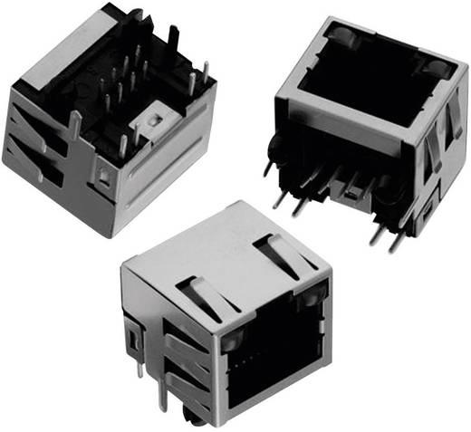 RJ45 beépíthető csatlakozó aljzat, LED-es, 8P8C, vízszintes, Würth Elektronik WR-MJ 615008137421