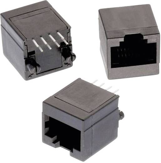 Moduláris jack, álló, árnyékolatlan, 8P8C WR-MJ, Pólusszám: 8P8C fekete Würth Elektronik 615008138021