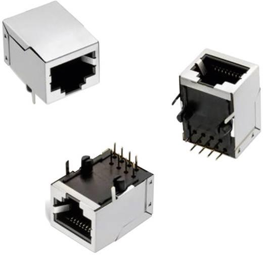 RJ45 beépíthető csatlakozó aljzat, 8P8C, vízszintes, Würth Elektronik WR-MJ 61500814221