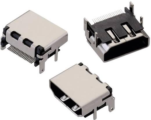 HDMI csatlakozó Alj, beépíthető, vízszintes Fekete Würth Elektronik 1 db