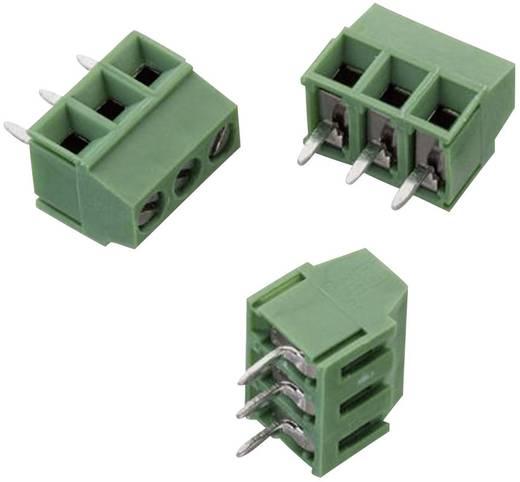 WR-TBL Terminál tömb, 2141-es sorozat, RM 3,5 mm Pólusszám: 3, zöld, Würth Elektronik 691214110003