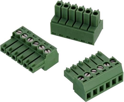 WR-TBL Terminál tömb, 3611-as sorozat, RM 3,5 mm Pólusszám: 6, zöld, Würth Elektronik 691361100006