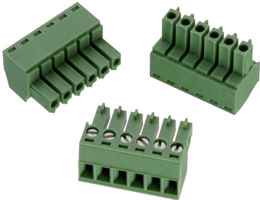 WR-TBL Terminál tömb, 361-es sorozat, RM 3,81 mm Pólusszám: 6, zöld, Würth Elektronik 691361300006