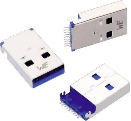 USB 3.0 A típusú dugó, fekvő, SMD, rögzítő csíptetővel, beépíthető, vízszintes Würth Elektronik WR-COM