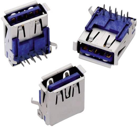 USB 3.0 A típus, fekvő, WR-COM Alj, beépíthető, vízszintes Würth Elektronik 692121030100